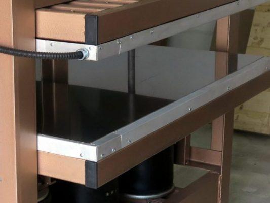 Горячая плита для пресса, поверхность из нержавеющей стали