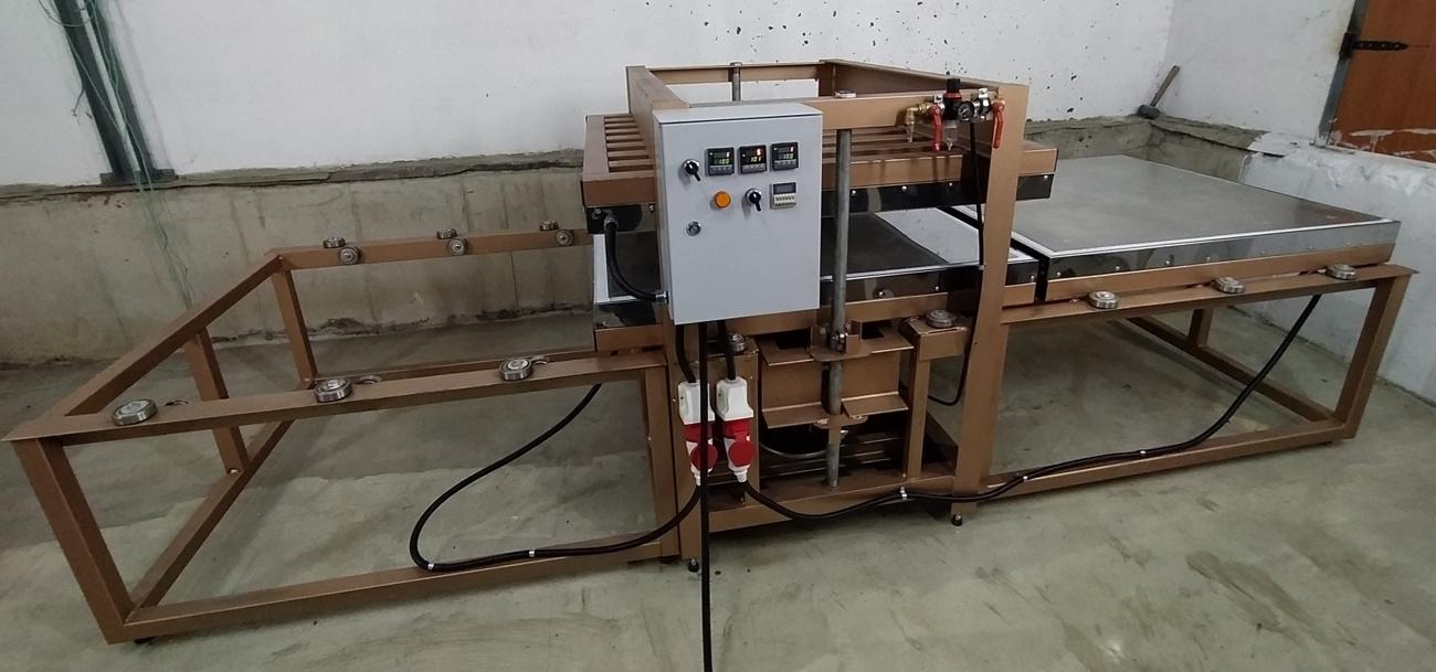 термо пресс для производства плитки из резиновой крошки