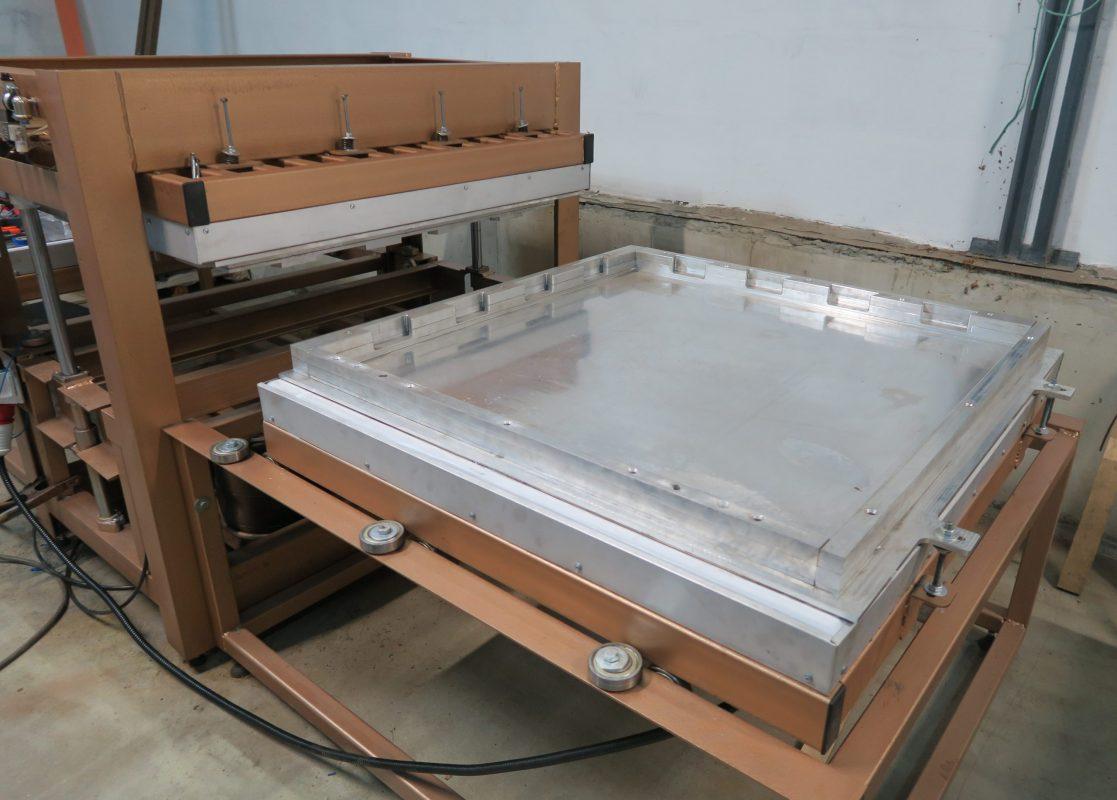 Пресс с формой скрытый пазл для резиновой плитки